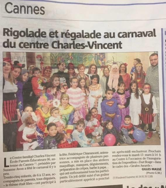 Carnaval au Centre Charles Vincent
