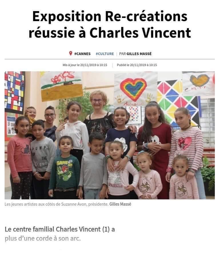 Exposition ré-création à Charles Vincent